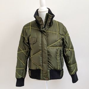 Columbia Quilted Olive Green Puffy Jacket